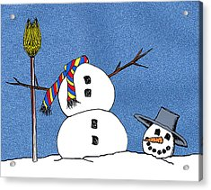 Headless Snowman Acrylic Print by Nancy Mueller