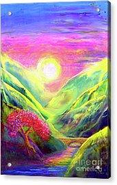 Healing Light Acrylic Print by Jane Small