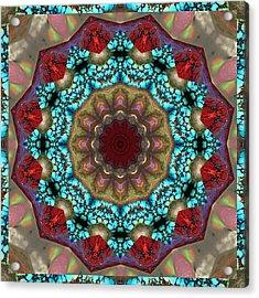Healing Mandala 35 Acrylic Print by Bell And Todd