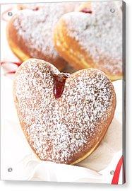 Heart Donuts Acrylic Print by Federico Arce