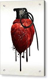 Heart Grenade Acrylic Print by Nicklas Gustafsson