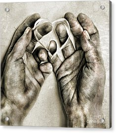 Heart In Hands Acrylic Print by HD Connelly