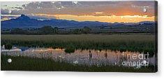 Heart Mountain Sunset Acrylic Print by Idaho Scenic Images Linda Lantzy