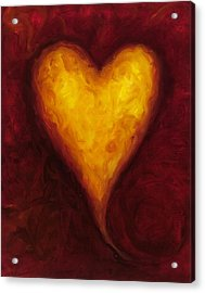 Heart Of Gold 1 Acrylic Print by Shannon Grissom