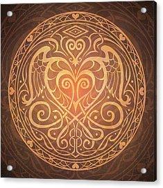 Heart Of Wisdom Mandala Acrylic Print by Cristina McAllister
