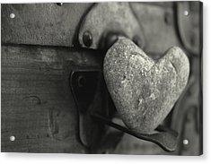 Heart Rock Acrylic Print by Toni Hopper