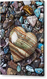 Heart Stone Acrylic Print by Garry Gay