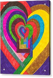 Heart Under Rennovation Acrylic Print by Brenda Adams