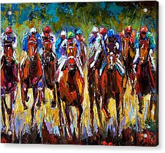 Heated Race Acrylic Print by Debra Hurd