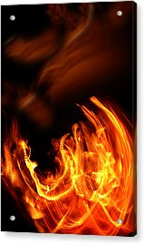 Heavenly Flame Acrylic Print by Donna Blackhall