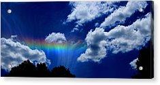Heavens Rainbow Acrylic Print by Linda Sannuti
