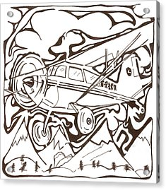 Heavier Than Air Maze Acrylic Print by Yonatan Frimer Maze Artist