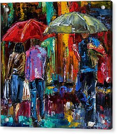 Heavy Rain Acrylic Print by Debra Hurd