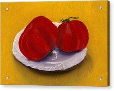 Heirloom Tomatoes Acrylic Print by Anastasiya Malakhova