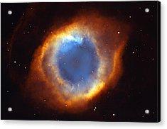 Helix Nebula Acrylic Print by Ricky Barnard