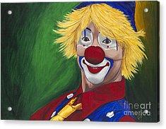 Hello Clown Acrylic Print by Patty Vicknair