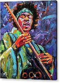 Hendrix Acrylic Print by Debra Hurd