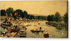 Henley Regatta Acrylic Print by James Jacques Joseph Tissot