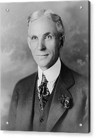 Henry Ford 1963-1947, Founder Of Ford Acrylic Print by Everett