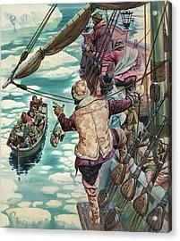 Henry Hudson Being Set Adrift Acrylic Print by Peter Jackson