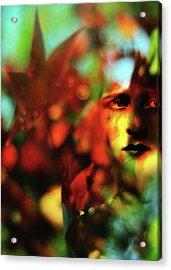 Her Autumn Eyes Acrylic Print by Rebecca Sherman