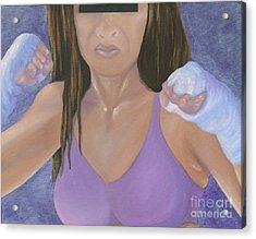 Her Fight Acrylic Print by Karen Feiling