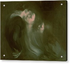 Her Mother's Kiss Acrylic Print by Eugene Carriere