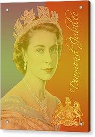 Her Royal Highness Queen Elizabeth II Acrylic Print by Heidi Hermes