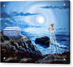 Her Tomb By The Sounding Sea Acrylic Print by Laura Iverson