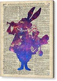Herald Purple Rabbit Acrylic Print by Jacob Kuch