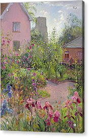 Herb Garden At Noon Acrylic Print by Timothy Easton