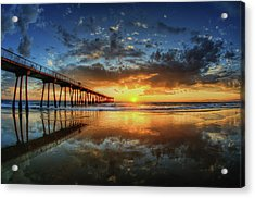 Hermosa Beach Acrylic Print by Neil Kremer