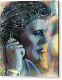 Heroes, David Bowie Acrylic Print by Mark Tonelli