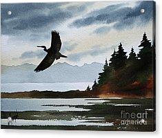 Heron Silhouette Acrylic Print by James Williamson