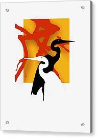 Herons  Acrylic Print by Bob Salo