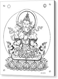 Heruka-vajrasattva -buddha Of Purification Acrylic Print by Carmen Mensink