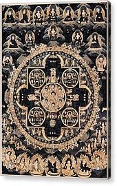 Heruka Yab Yum Mandala Acrylic Print by Lanjee Chee