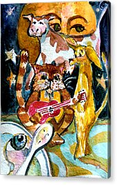 Hey Diddle Diddle Acrylic Print by Mindy Newman