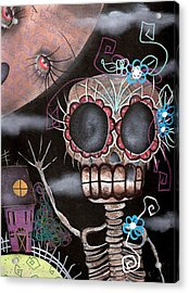 HI  Acrylic Print by  Abril Andrade Griffith