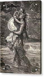Hiawatha And Minnehaha Acrylic Print by Unknown