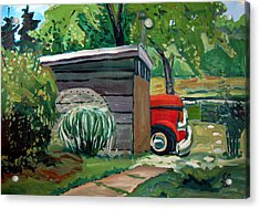 Hiding From The Junkyard Acrylic Print by Charlie Spear