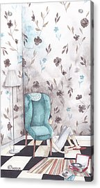 Hiding  Acrylic Print by Soosh