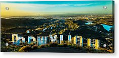 High On Hollywood Acrylic Print by Az Jackson