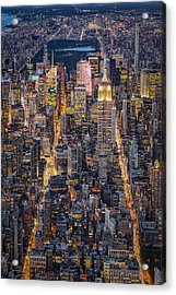 High On New York City Acrylic Print by Susan Candelario
