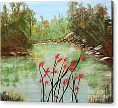 Highlands Lake Acrylic Print by Sharon Eng