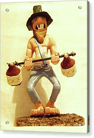 Hillbilly Weightlifter Acrylic Print by Russell Ellingsworth