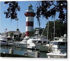 Hilton Head South Carolina Light House Acrylic Print by Richard Singleton