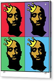 Hip Hop Icons Tupac Shakur Acrylic Print by Stanley Slaughter Jr