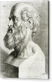 Hippocrates, Greek Physician Acrylic Print by Science Source