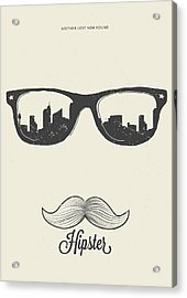 Hipster Neither Lost Nor Found Acrylic Print by Bekare Creative
